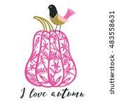 i love autumn. print design | Shutterstock .eps vector #483558631