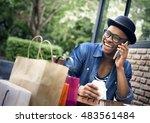 man shopping spending customer... | Shutterstock . vector #483561484