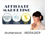 Small photo of Affiliate marketing. Join, promote, earn. Affiliate marketing logo. affiliate marketing concept image. Affiliate marketing scheme on white background. Affiliate marketing descriprion.
