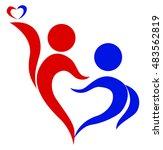 family  love  symbol of two... | Shutterstock .eps vector #483562819