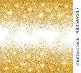 gold sparkles on white... | Shutterstock .eps vector #483569317