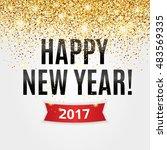 gold sparkles white background  ... | Shutterstock .eps vector #483569335