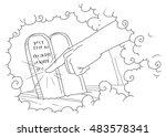 finger of god write the ten... | Shutterstock . vector #483578341