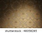 Vintage Golden Floral Pattern...