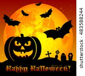 holiday poster for halloween... | Shutterstock .eps vector #483588244