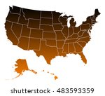 map of usa | Shutterstock .eps vector #483593359