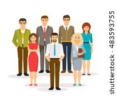 group office men and women. the ... | Shutterstock .eps vector #483593755