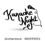 karaoke night lettering    Shutterstock . vector #483595051