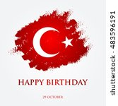 happy birthday turkey  ... | Shutterstock .eps vector #483596191