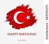 happy birthday turkey  ... | Shutterstock .eps vector #483596191