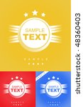 badge set with great colors | Shutterstock .eps vector #48360403