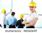 portrait of engineer with... | Shutterstock . vector #48360649