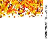 autumn leaves scattered...   Shutterstock .eps vector #483621451