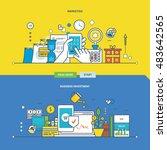 concept of marketing  business... | Shutterstock .eps vector #483642565