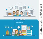 concept of our team  workflow... | Shutterstock .eps vector #483642571