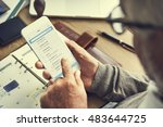 Stock photo e mail contact message inbox digital device concept 483644725