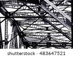 black and white abstract... | Shutterstock . vector #483647521