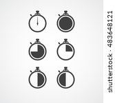 stopwatch icon set. timer icon. ... | Shutterstock .eps vector #483648121