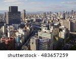 umeda  osaka  japan  18th... | Shutterstock . vector #483657259