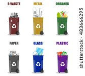 diffrent waste recycling...   Shutterstock .eps vector #483666295