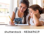 learning together | Shutterstock . vector #483669619