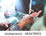 medical technology network... | Shutterstock . vector #483678901