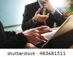business team present.... | Shutterstock . vector #483681511