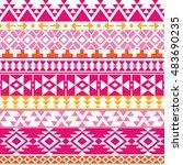 seamless navajo print  aztec... | Shutterstock .eps vector #483690235