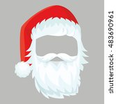 santa claus mask with a... | Shutterstock .eps vector #483690961