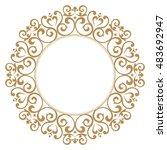 decorative line art frames for... | Shutterstock .eps vector #483692947