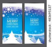 merry christmas and happy new... | Shutterstock .eps vector #483695137