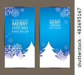 merry christmas and happy new... | Shutterstock .eps vector #483695167