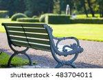 bench in the park | Shutterstock . vector #483704011