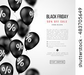 black friday sale poster.... | Shutterstock .eps vector #483705649