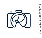 r photography logo design | Shutterstock .eps vector #483708619