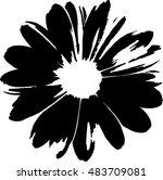 Stock vector flower 483709081