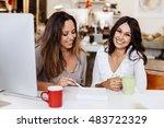 young beautiful women in the... | Shutterstock . vector #483722329
