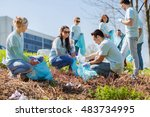 volunteering  charity  cleaning ... | Shutterstock . vector #483734995