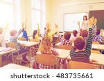 education  elementary school ... | Shutterstock . vector #483735661