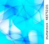 blue wavy vector | Shutterstock .eps vector #483752101