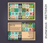 vector business card design... | Shutterstock .eps vector #483753424