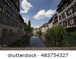 strasbourg  water canal in... | Shutterstock . vector #483754327