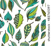 hand drawn seamless pattern... | Shutterstock .eps vector #483765397