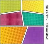 popart layout vector... | Shutterstock .eps vector #483765481