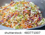 shredded lettuce  carrot and... | Shutterstock . vector #483771007