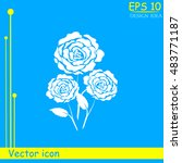 rose vector icon | Shutterstock .eps vector #483771187