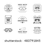 set of diving logos  labels and ... | Shutterstock . vector #483791845