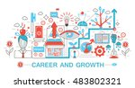 modern flat thin line design... | Shutterstock .eps vector #483802321