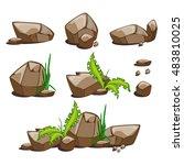 Vector Desert Stones. Cartoon...