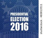 presidential election 2016 | Shutterstock .eps vector #483813511